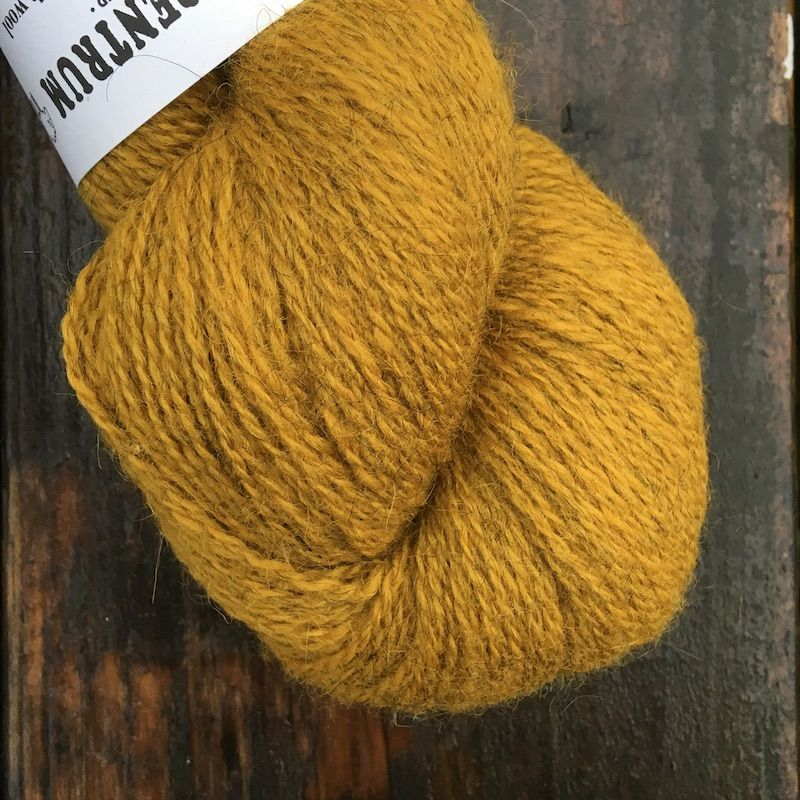 Ullcentrum 2ply Solid - Lion on Grey